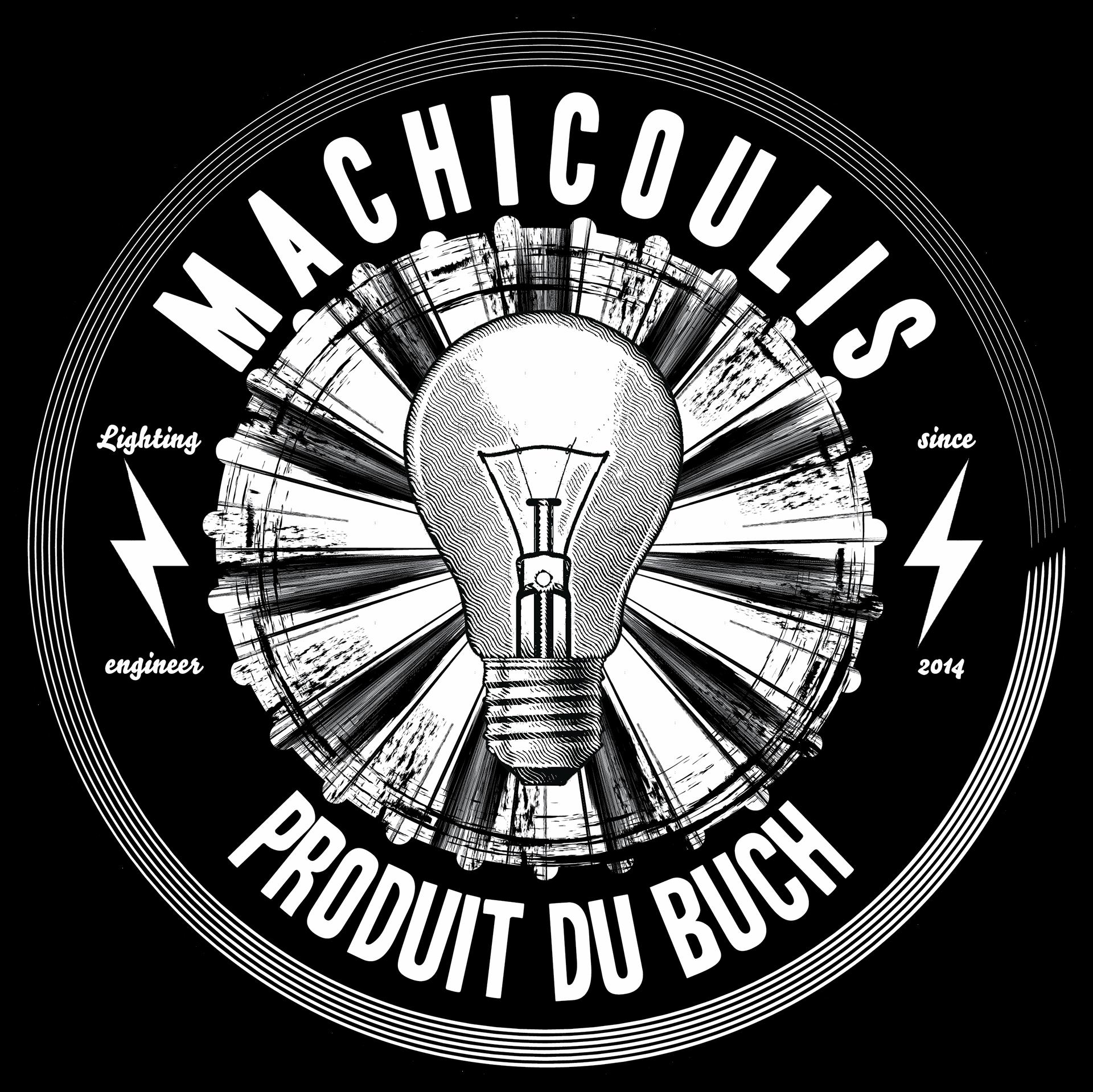 Logo de Machicoulis. designer lumiere, enregistrement et mixage